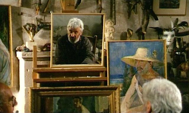 Jean Vimenet dans son atelier, Touraine, 1996