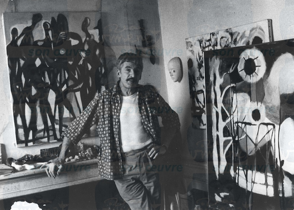 JV devant toiles Bresson, 1967