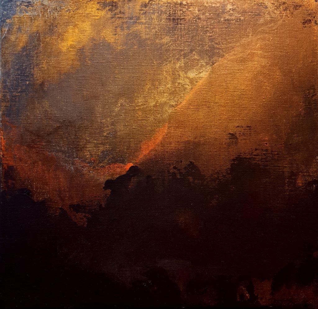 Blaze on the sunset