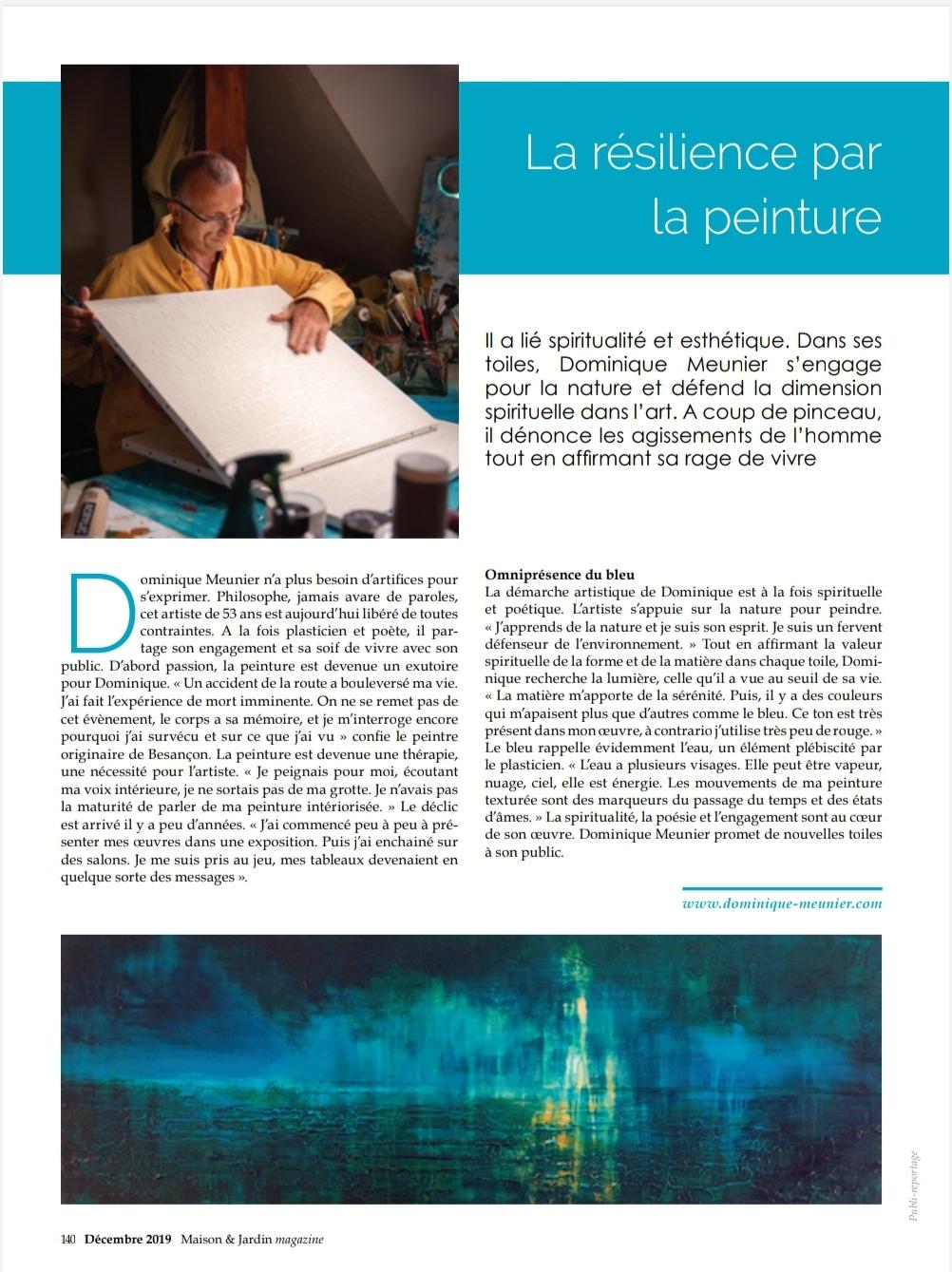 Article presse Maison&Jardin Magazine