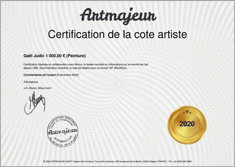 cote officielle artiste Gaël JUDIC