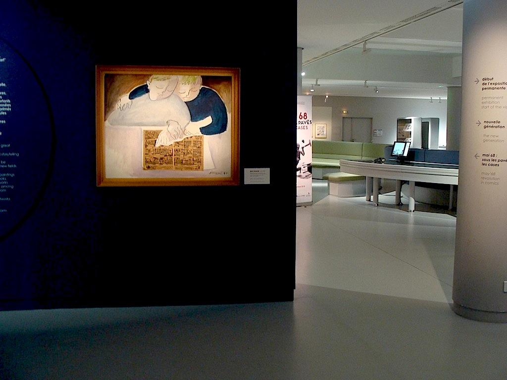 Entrée exposition permanente, musée BD Angoulême