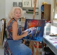 Patricia dans l'atelier